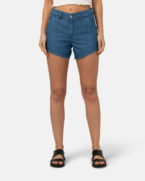 Woman-Sustainable-Jeans-Ivy-Shorts-Pure-Blue-halffront-1