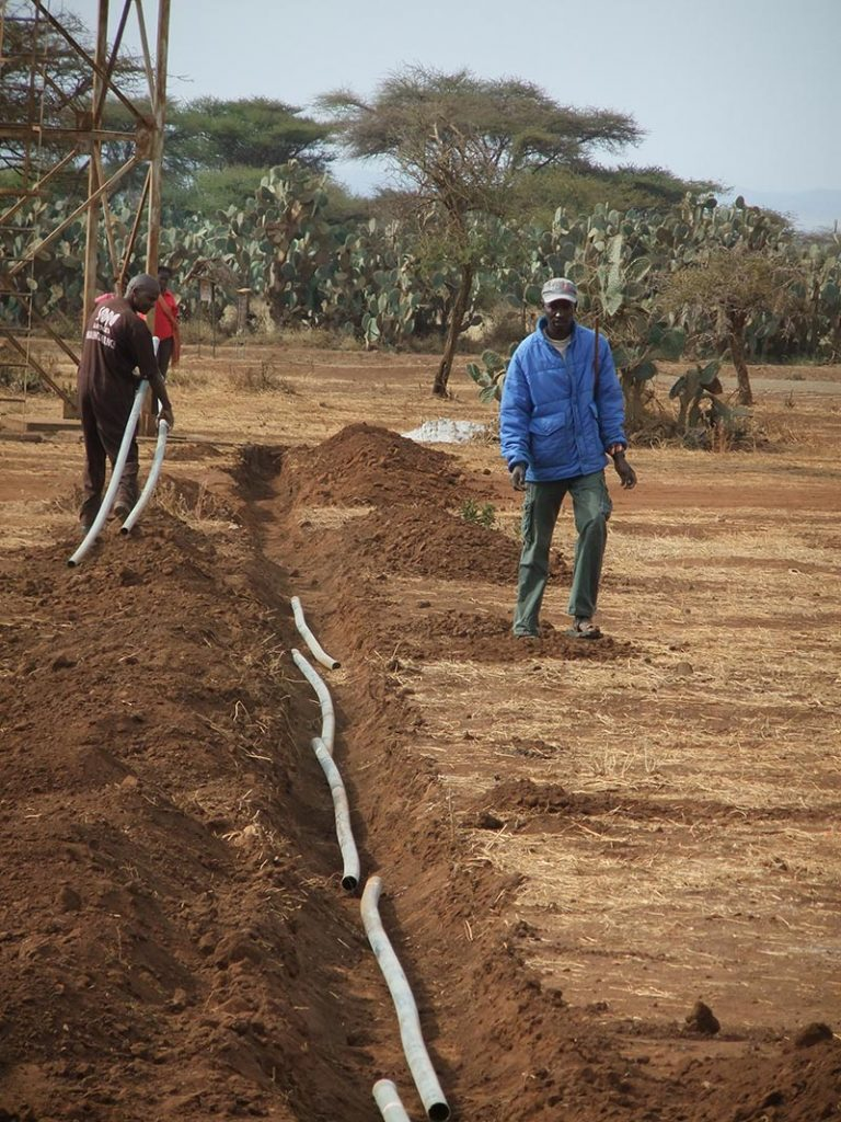 Interactions And Solidarity Monaco In Kenya WFF Pipeline Laying