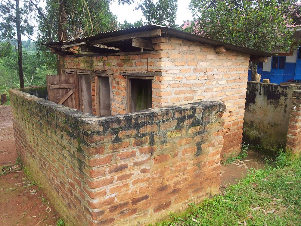 Washroom facilities for girls school in Uganda 1