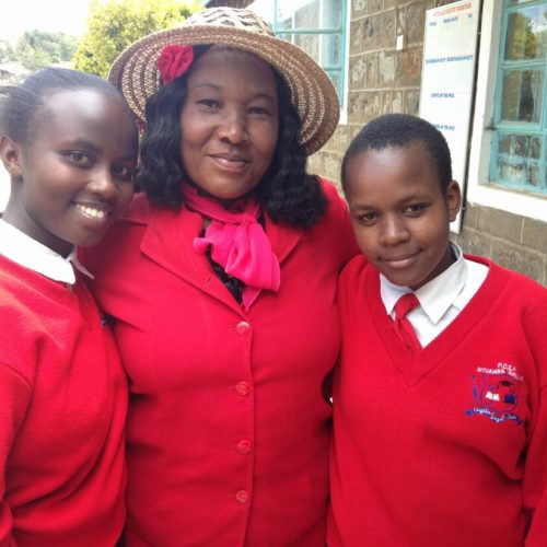 Cura girls with housemother
