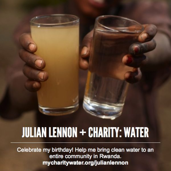 Julian Lennon Charity Water Birthday Fundraiser Rwanda Clean Water